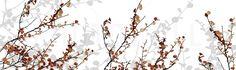 Mountain Birch Orange - Fotobehang & Behang - Photowall