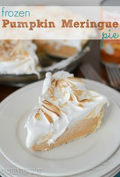 This Frozen Pumpkin Meringue Pie is spectacular, thanks to the amazing easy meringue!