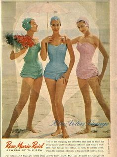 Vintage Swimsuit Advertising - Sally Lee by the Sea Coastal Blog Beach House