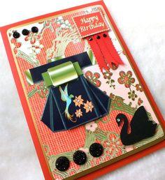 Luxury Handmade Oriental Birthday Card - Folksy