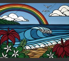 30bd321645 North Shore Rainbow. Heather Brown ArtHand ...