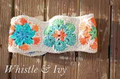Crochet African Flower Head Warmer - Tutorial ❥ 4U // hf