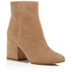 Sam Edelman Taye Mid Heel Booties ($170) ❤ liked on Polyvore featuring shoes, boots, ankle booties, tan, tan ankle booties, sam edelman, tan booties, mid-heel boots and sam edelman boots