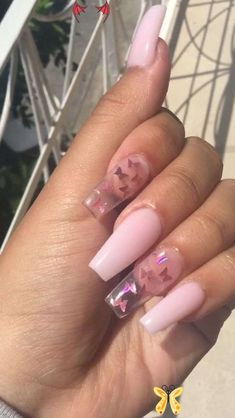 <br> Clear Acrylic Nails, Summer Acrylic Nails, Pink Clear Nails, Summer Nails, Pink Tip Nails, Spring Nails, Aycrlic Nails, Swag Nails, Coffin Nails
