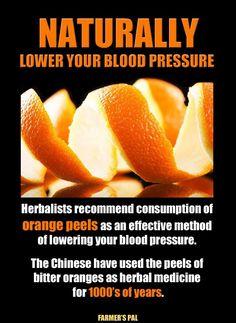 Orange peals,high blood pressure