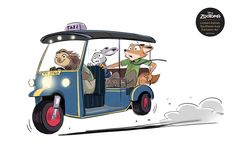 Nick and Judy riding in a tuk-tuk in Thailand.