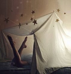 under a starry sky, my room <3