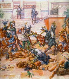 """La Pintura y la Guerra """"Conquista de Tenochtitlán""""  J. Redondo"""