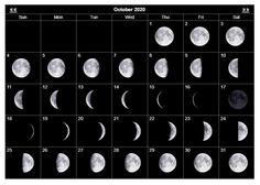 2020 October Moon Phases Printable Calendar