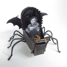 Creepy baby carriage by Pottermouth on Craftster. Love!