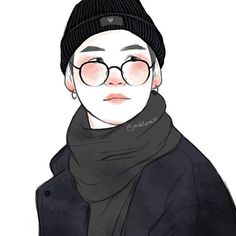 """Min suga """"All those words are side to hide my weak self"""" Agust D - The last . ."""