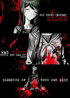 Vous n'avez jamais pensé que le sang était joli jusqu'à ce que vous le voyiez saigner de votre propre peau