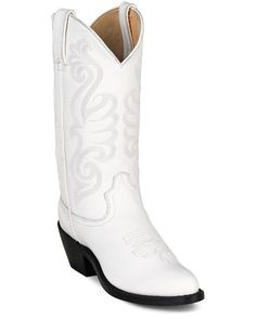 White, wedding boot