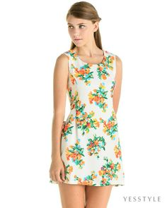 YESSTYLE: YesStyle Dress- Floral Tank Dress - 50% off within 24 hours