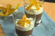Πως θα φτιάξετε εύκολα μια ανάλαφρη μους σοκολάτας με άρωμα από πορτοκάλι και χτυπημένη κρέμα γάλατος χωρίς πρόσθετη ζάχαρη Mousse, Panna Cotta, Deserts, Pudding, Chocolate, Ethnic Recipes, Food, Recipes, Dulce De Leche