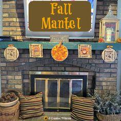 A Creative Princess: Fall Mantel and Mini Banners