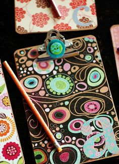 DIY clipboard gifts...so pretty and perfect for the organized woman!
