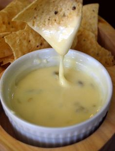 Recipe for Mexican Queso Blanco Dip - I found this recipe that promised it was exactly how they make it at Mexican restaurants! It was so creamy and delicious I had to share it!