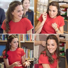 Kate & Will at YoungMinds helpline service in London today after three engagements yesterday @dailymail