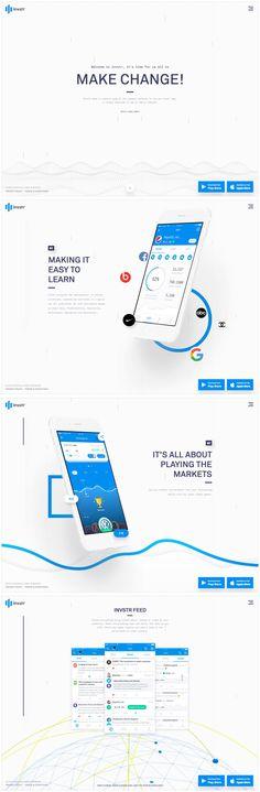 Invstr (More web design inspiration at topdesigninspiration.com) #design #web #webdesign #sitedesign #responsive #ux #ui