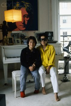 Yoko Ono with son Sean Lennon John Lennon Yoko Ono, Sean Lennon, John Lennon Beatles, The Beatles, Daniel Radcliffe, Saddest Songs, Lady And Gentlemen, Reggae, Love Story
