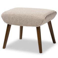 Baxton Studio Geneva Mid-Century Inspired Beige Fabric Upholstered Stool, One Size Furniture Direct, Furniture Repair, Furniture Upholstery, Accent Furniture, Table Furniture, Living Room Furniture, Modern Furniture, Upholstered Ottoman, Wholesale Furniture
