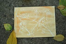 Crayon Resist Autumn Leaf Rubbings | Make and Takes