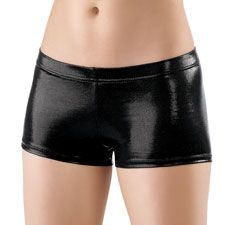 Metallic Booty Shorts; Balera    - Wear for vaulting and gymnastics with a crop top or over a leotard