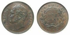 "World Coins - Sarawak 1863 Cent  NGC-55BN  ""scarce--mintage unknown"""