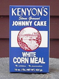 Rhode Island Johnny Cake Corn Meal, Yellow Corn Meal, Red and Blue Corn Meal