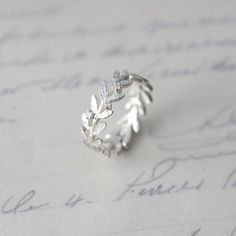 Olive leaf ring by atliersimo. I want, i want i want.
