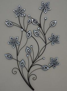 stunning-large-metal-flower-wall-art.jpg (351×473)