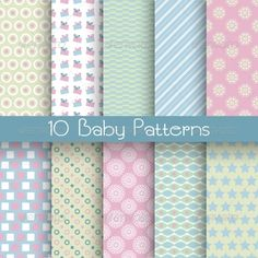 Baby Pastel Different Seamless Patterns — Vector EPS #shape #chic • Available here → https://graphicriver.net/item/baby-pastel-different-seamless-patterns/7132206?ref=pxcr