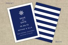 Nautical save the date by ATLovelyDesigns on Etsy, $2.75
