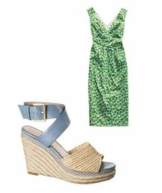Pair eye-catching emerald green clothing with soft neutrals for a fun, summery look.