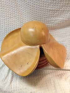 Millinery wide brim hat block