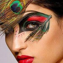 Maquiagem artística - pavão