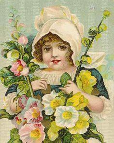 menina com flores amarelas
