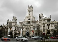 Palacio de Comunicaciones. Architects Antonio Palacios and Joaquin Otamendi was inaugurated in 1909. Built according to neo-gothic and Spanish castle influences, the building is known as a work of art in which every detail is of importance. #building #palace #MAdrid #Spain
