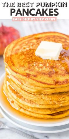 Incredible, pumpkin pancakes are what's on the menu for breakfast! These pumpkin pancakes are made from scratch and super fluffy! Grab the simple recipe below and you'll love your new, pumpkin pancake recipe that's drizzled in Nutella! Savory Pumpkin Recipes, Pureed Food Recipes, Baking Recipes, Dessert Recipes, Recipes Dinner, Pumpkin Dishes, Cooking Pumpkin, Pumpkin Pumpkin, Pumpkin Cookies