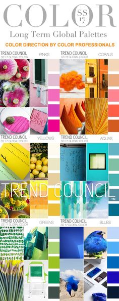 TRENDS // TREND COUNCIL - COLORS . SS 2017