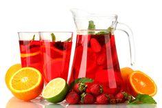 Sangría de fresas sin alcohol