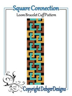 Square Connection - Loom Bracelet Cuff Pattern | DebgerDesigns - Patterns on ArtFire