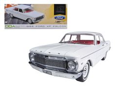 1965 Ford XP Falcon White 50th Anniversary Limited to 1250pc with Certificate of Authenticity 1/18 Diecast Car Model by Greenlight - Brand new 1:18 scale diecast car model of 1965 Ford XP Falcon White 50th Anniversary Limited to 1250pc with Certificate of Authenticity die cast car model by Greenlight. Brand new box. Rubber tires. Made of diecast metal. Does not have any openings. Detailed interior, exterior, engine compartment. Dimensions approximately L-10.5, W-4.5, H-3.5 inches.-Weight: 4…