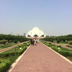 On the last day we went to see the Lotus Temple. I was thrilled to see a religious/cultural site in Delhi, as I thought that I wasn't going to have time. The gardens lining the pathways were also an unexpected delight.