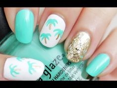 Easy Palm Tree Nails Video Tutorial (Using a Toothpick!)