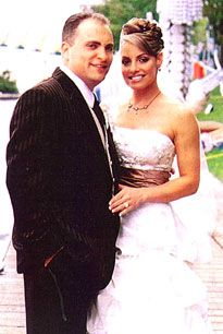 On September Patricia Anne Stratigias (Trish Stratus) married her high school sweetheart Ron Fiscio in Toronto, Canada. The couple was together for fourteen years before they were officially married. Wwe Couples, Trish Stratus, Private Wedding, Wwe Tna, Hollywood Wedding, High School Sweethearts, Wedding Bells, Wedding Bride, Wwe Divas