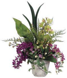 Phalaenopsis Orchid, Cymbidium Orchid and Oncidium Arrangement
