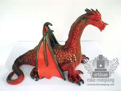 Dragon Cake Artisan Cake Company, Game Of Thrones Cake, Cupcake Cakes, Cupcakes, Baking Secrets, Red Cake, Dragon Cakes, Dinosaur Cake, Incredible Edibles
