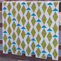 Why not GO! Fish this summer?The Triangle in Square dies make these shapes come together quick and easy. Free pattern with die. #AccuQuilt #quilting #cuttimequiltmore